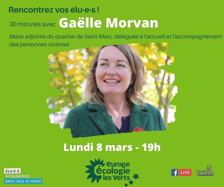 Rencontrez Gaëlle Morvan, élue écologiste de Brest