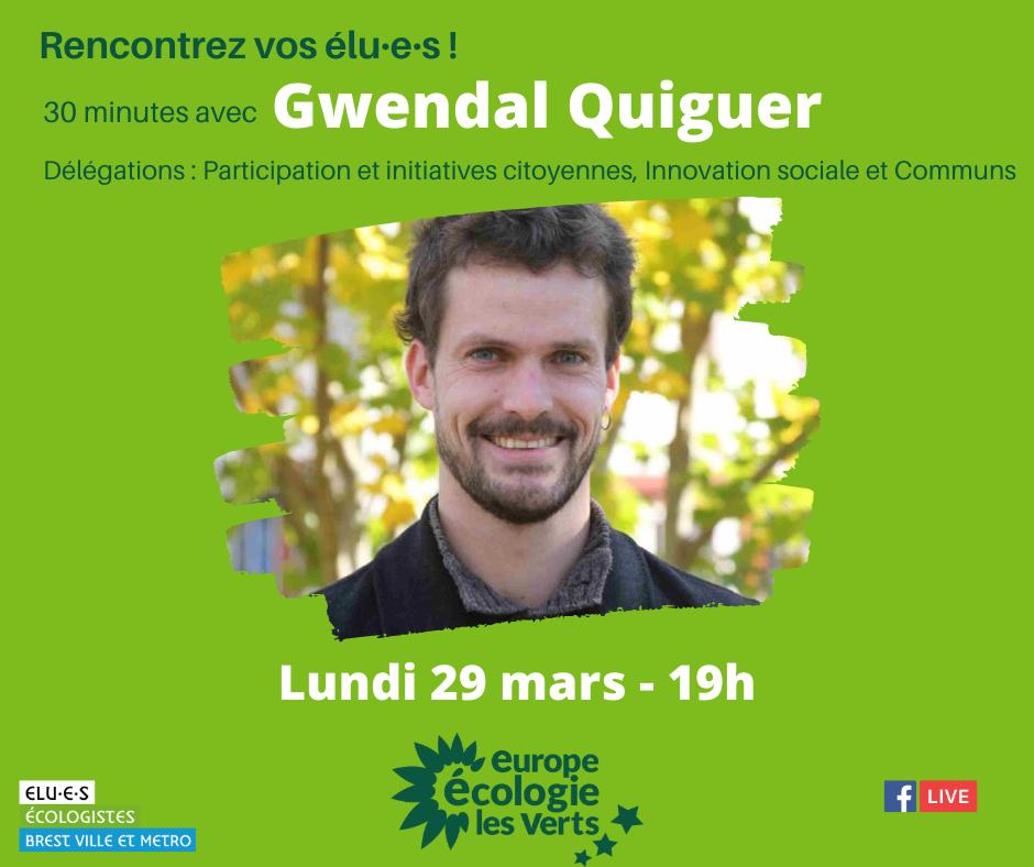 Rencontrez Gwendal Quiguer, élu écologiste de Brest