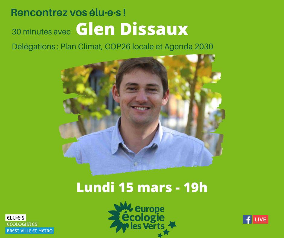 Rencontrez Glen Dissaux, élu écologiste de Brest