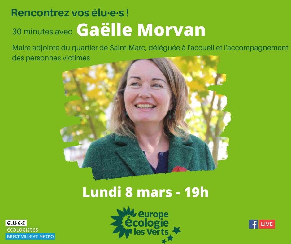 Gaëlle Morvan élue écologiste échange avec les habitants