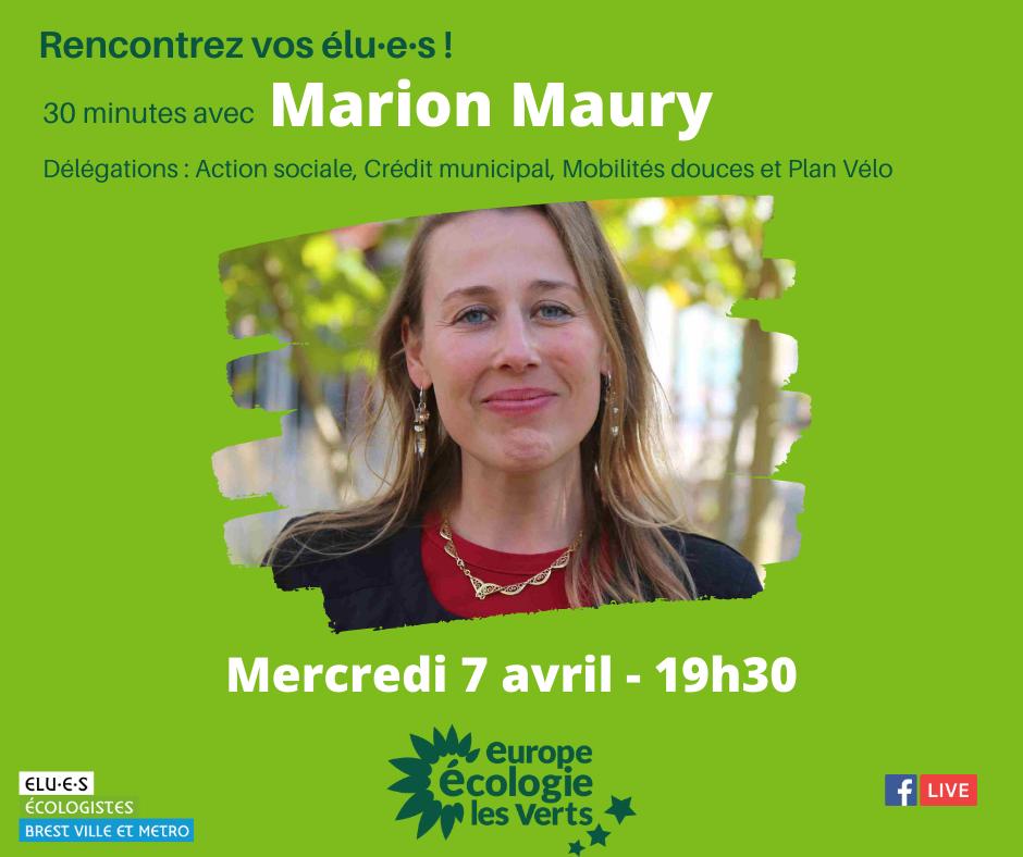 Rencontrez Marion Maury, élue écologiste de Brest