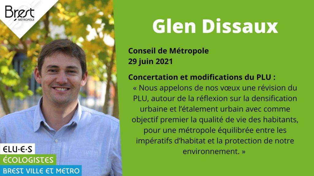 Glen Dissaux est intervenu sur le plan local d'urbanisme de Brest Métropole