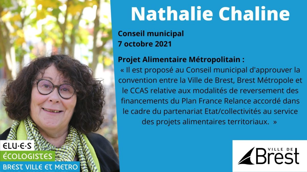 Financement du Projet Alimentaire territorial - Nathalie Chaline